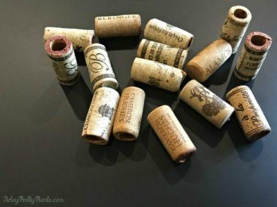 Empty Wine Corks