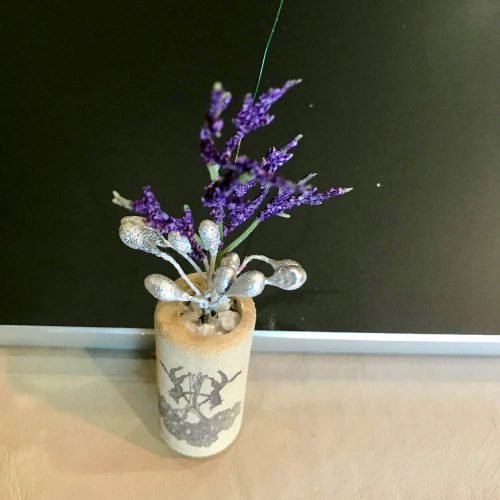 wine cork with artificial plants