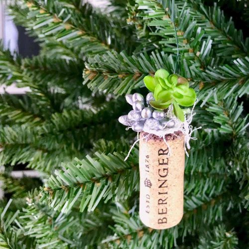 Wine Cork Planter Ornaments green hanging