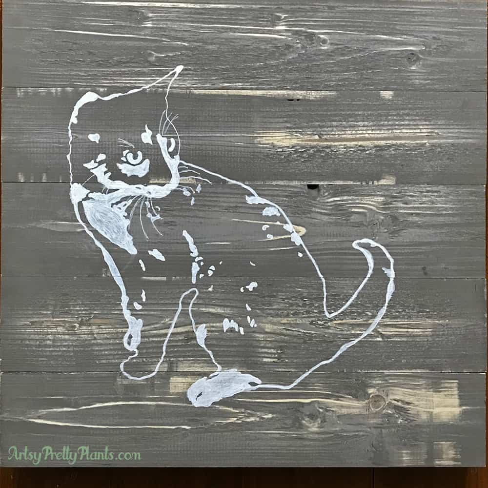 final DIY wood painting