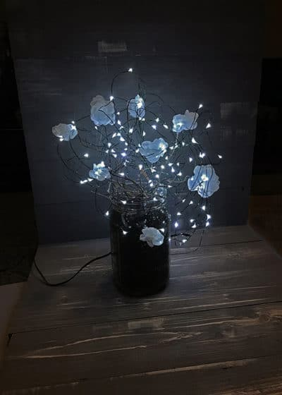 Luminescent fabric flower lamp   DIY