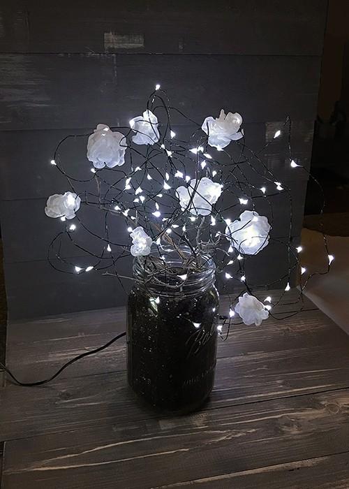 DIY Illuminated Mason Jar Lamp