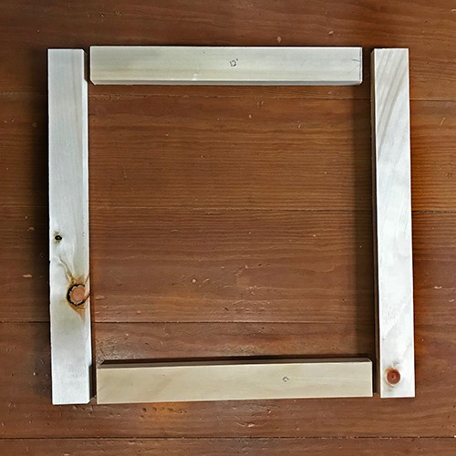 back frame for diy wood painting