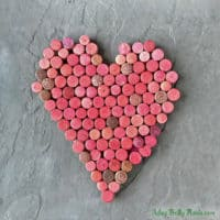 Wine Cork Wall Art for Valentine's Day