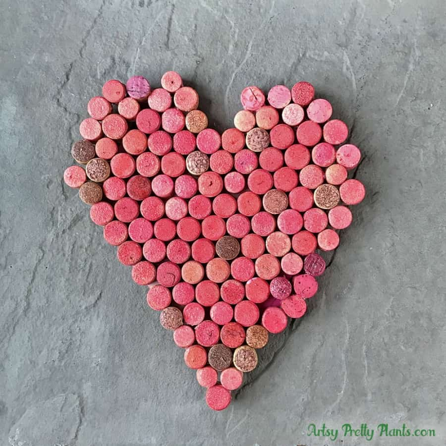 Valentine's Day Wine Cork Wall Art