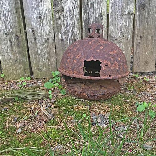 lantern after vinegar wash