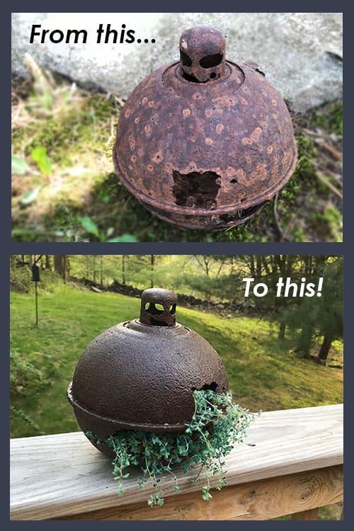 Before & After Smudge Pot Planter