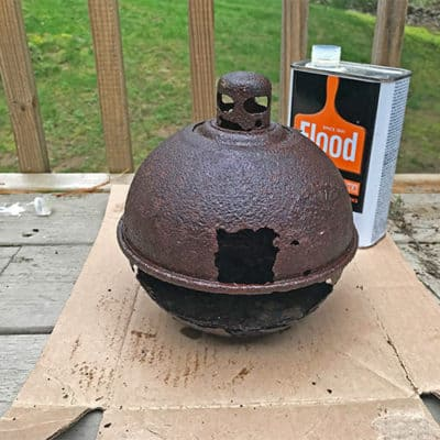 pot after first Penetrol oiling