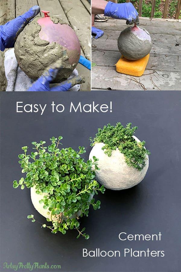 Cement-Balloon-Planter