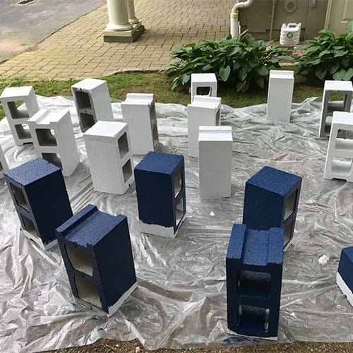paint the block planters