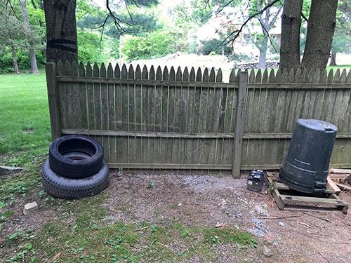 space for DIY cinder block planter