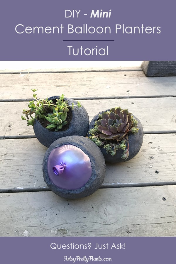 Mini Cement Balloon Planter Tutorial