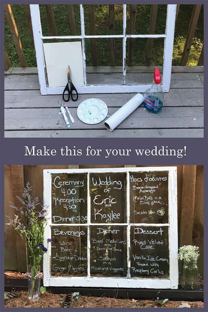 How to Make a Window Wedding Menu