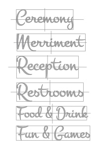 signage wording for wedding pallets signs on paper