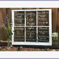 Wedding Window Menu DIY