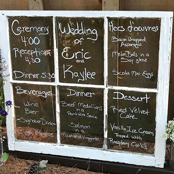Wedding Window Sign