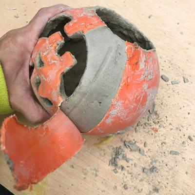 Step: Peel away pumpkin plastic