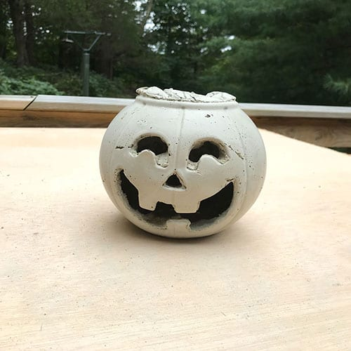 Step: Pumpkin de moulded