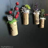 DIY Cork Ornament Planters