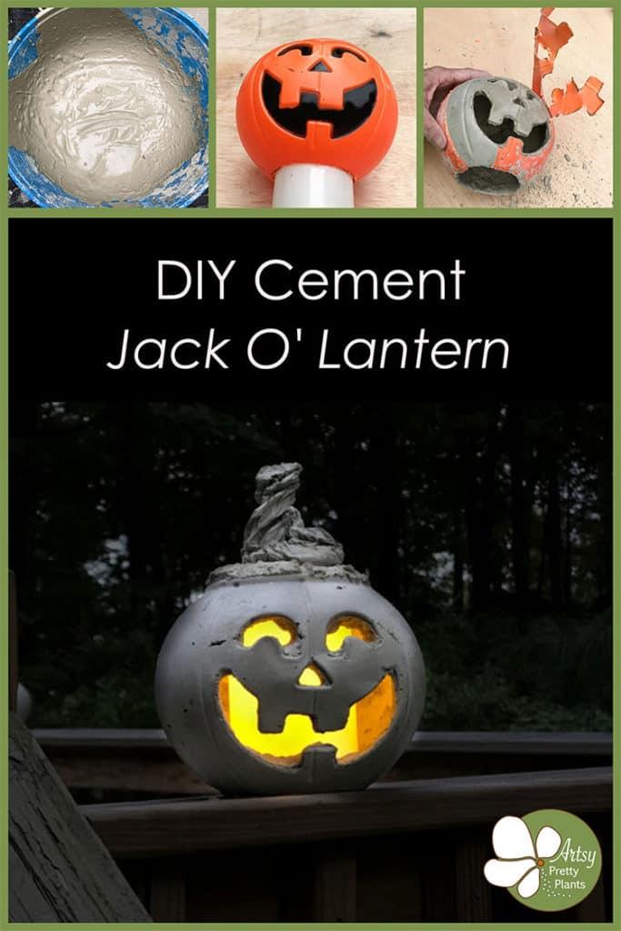Concrete Jack O Lantern Tutorial
