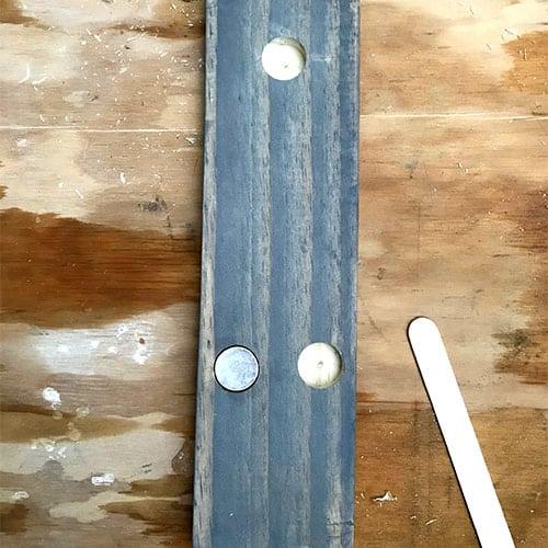 Glued magnet