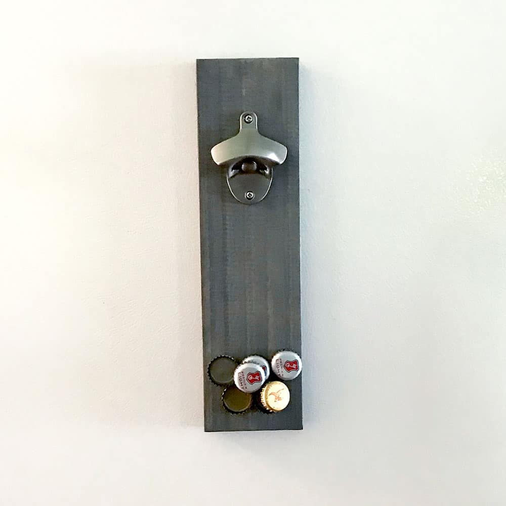 Opener mounted to refrigerator with magnets