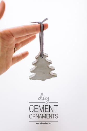 cement tree ornament