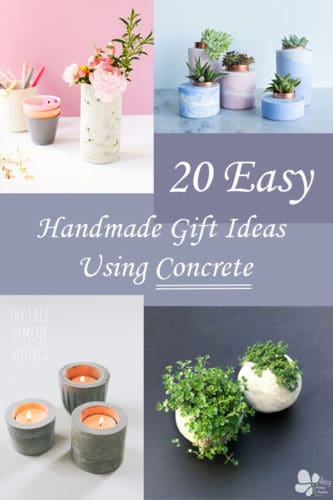 collage of concrete gifts to make