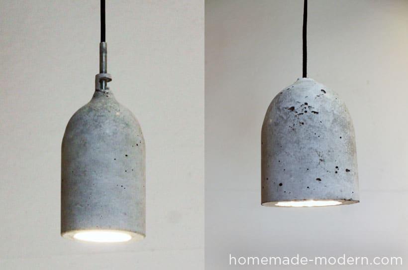 hanging concrete pendant lamp