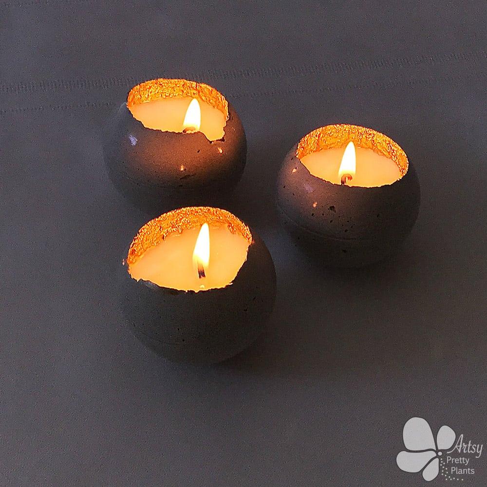Lit Christmas candles