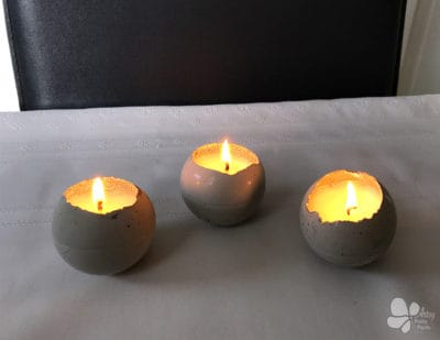 Xmas Candles Made With Cement | DIY Tutorial
