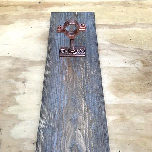 vase hardware on wood