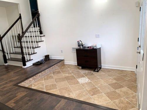 foyer for DIY mudroom