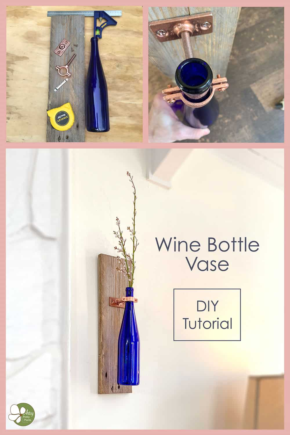 step for making wine bottle vase