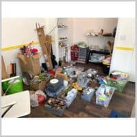 Craft room with supplies
