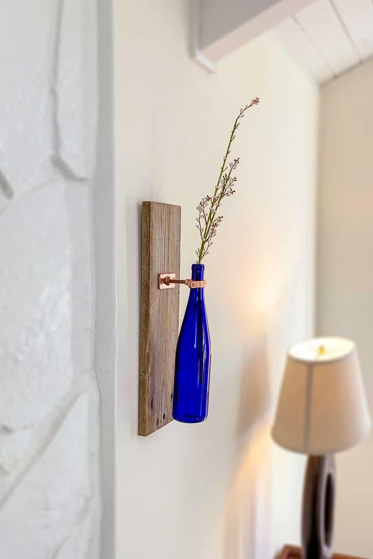 wine bottle as wall sconce