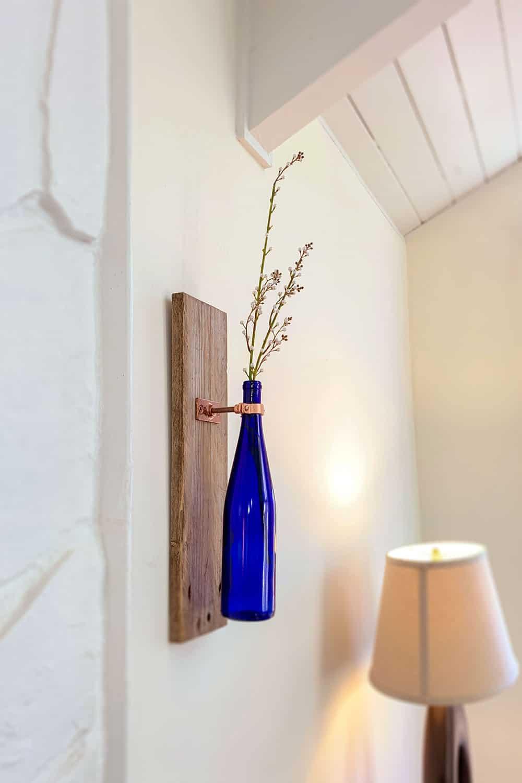 vase on wall