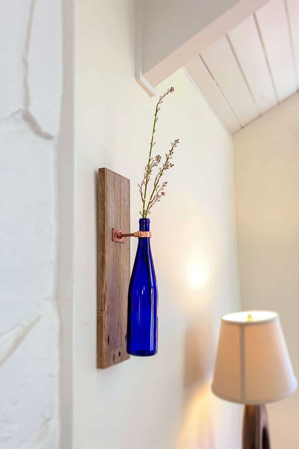 Make A Wine Bottle Wall Vase | An Easy Step By Step Tutorial