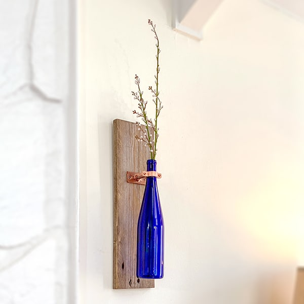 Wine Bottle Wall Vase Decor