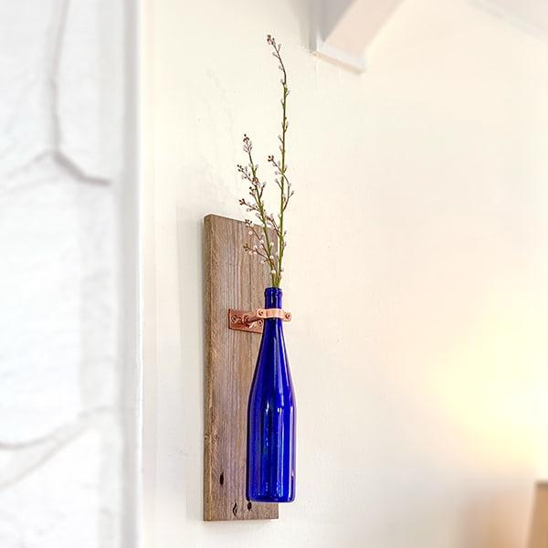 vase decoration with wine bottle