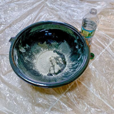 cement mix in bowl