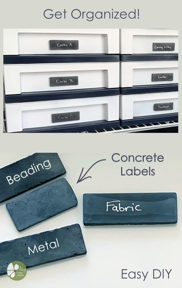 DIY concrete labels