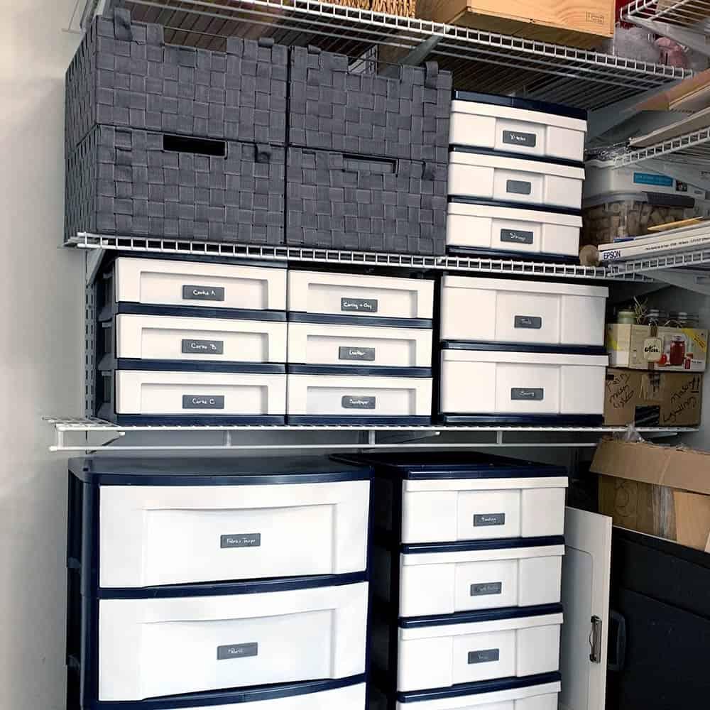 painted storage drawers