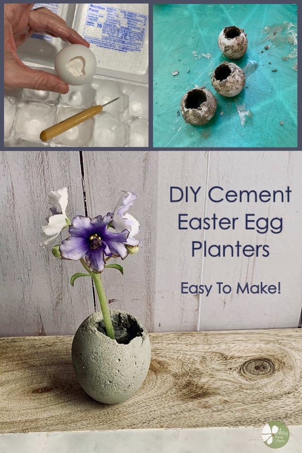 Cement Egg Planters DIY