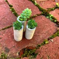 concrete wine corks on bricks