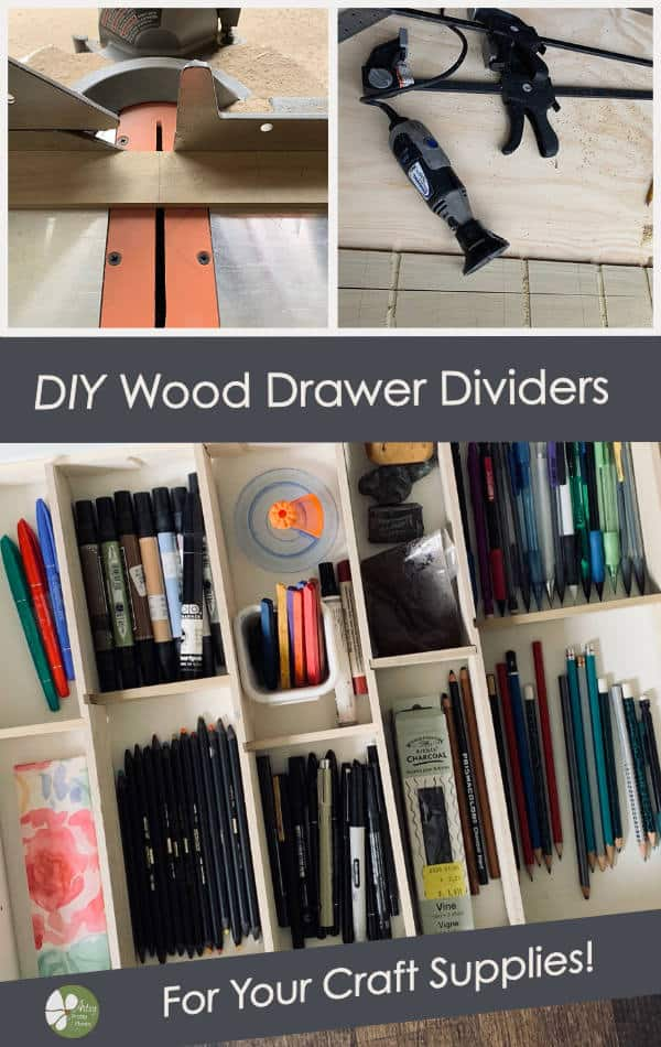 Finished wood drawer organizers tutorial