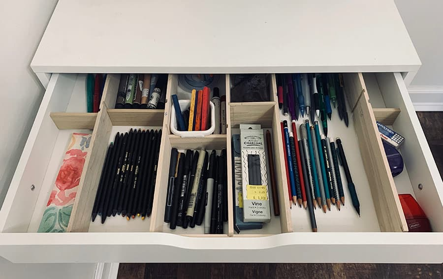 drawer dividers for Ikea Alex drawers