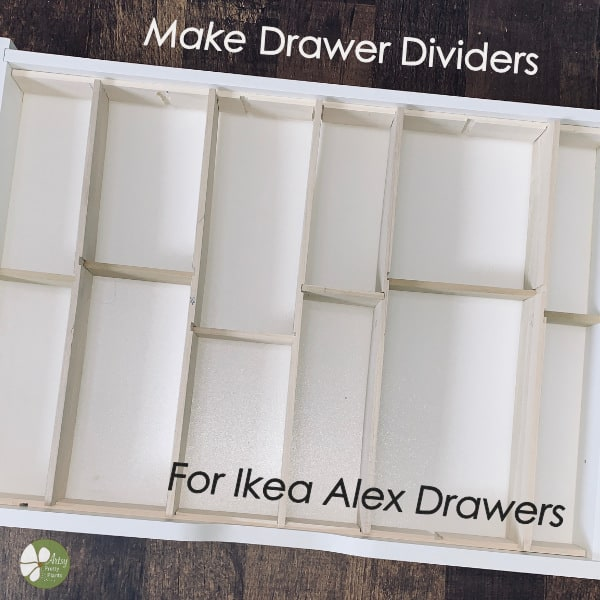 Wood drawer dividers for Ikea Alex drawers