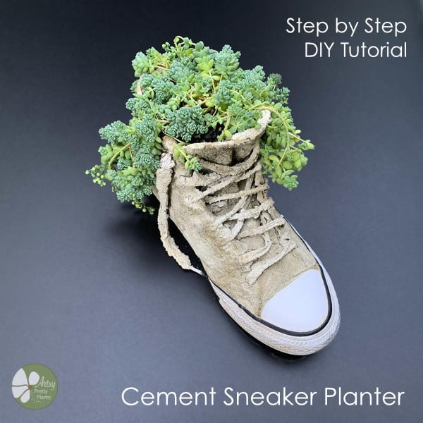 DIY Planter from a sneaker