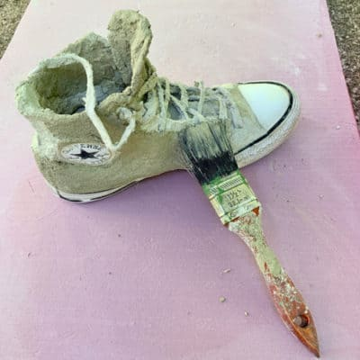 redcoat sneaker with cement
